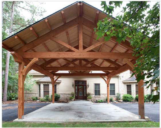 Carport Timber Frame Style Post And Beam Ideas