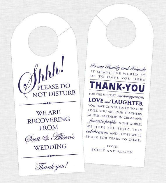 25+ Best Ideas about Wedding Door Hangers on Pinterest