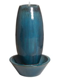 Large Ceramic Garden Fountain - Blue   Gardens, Ceramics ...
