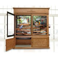 Parrot Furniture Aviary Cage with Glass Doors | Pet Homes ...