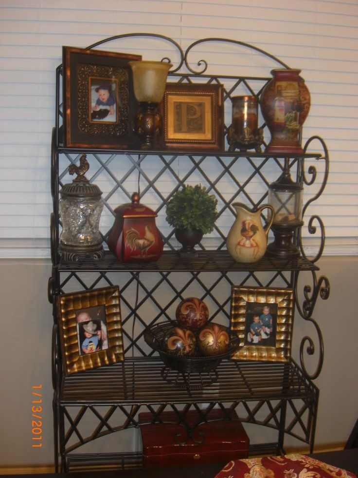 25 best ideas about Bakers Rack Decorating on Pinterest