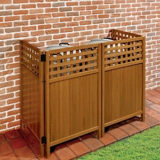 hide away trash bin kitchen custom outdoor kitchens 17+ ideas about garbage can shed on pinterest | building ...