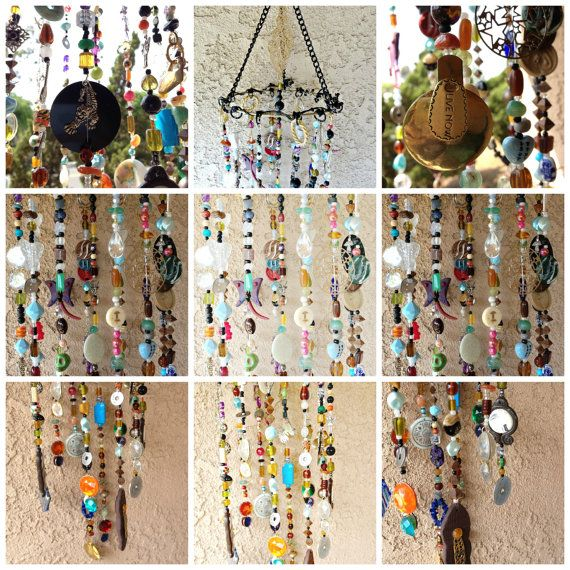 Boho Decor Bohemian Inspired Mobile Suncatcher Hanging Home