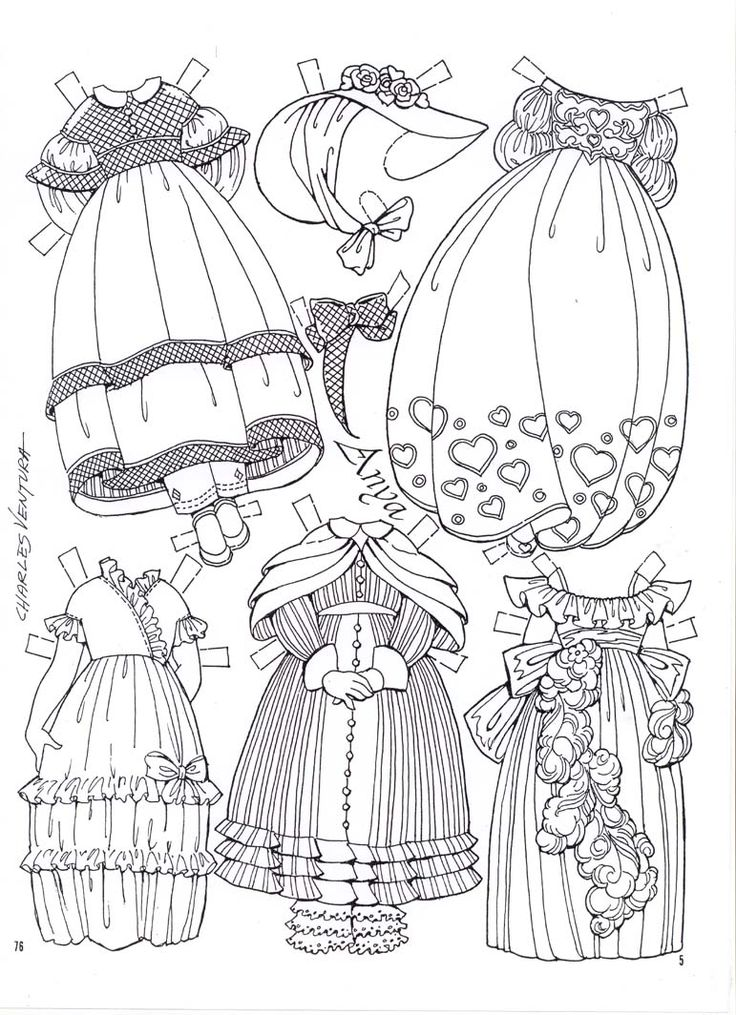 165 best Paper doll coloring pages images on Pinterest