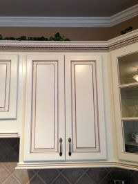 My dream kitchen, at last!; Painted maple cabinets antique ...