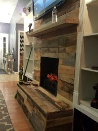 Best 25+ Pallet fireplace ideas on Pinterest   Fireplace ...