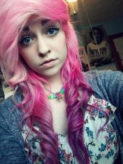 pink and purple scene hair dyed