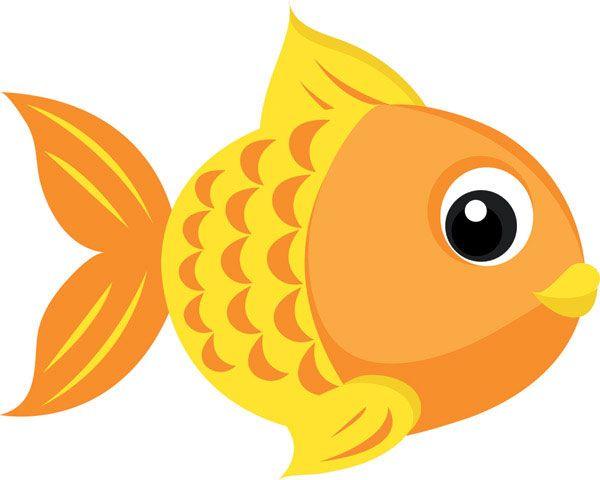 Cute Fishing Cartoons Goldfish Vector 4 Download Free