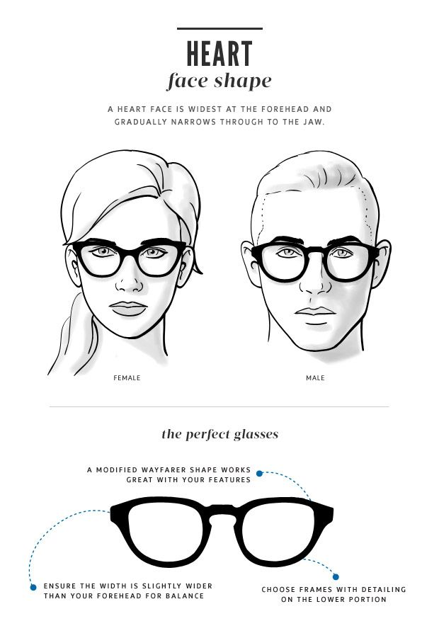 8 best images about Glasses for heart shape face on