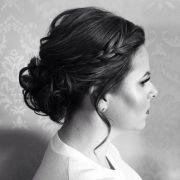 bun bridesmaid updo wedding