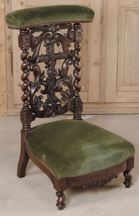 antique needlepoint chair replacement slings black forest prie dieu | bssd: prayer room pinterest forest, chairs and ...