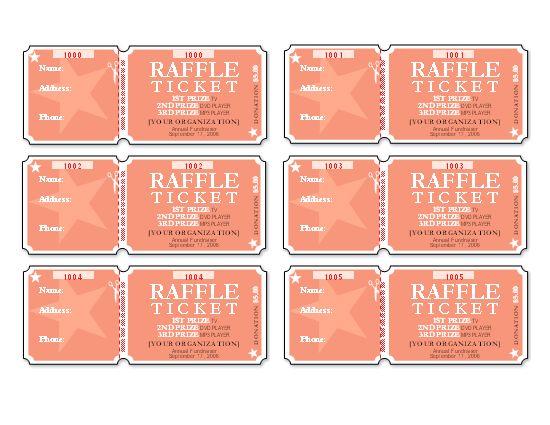 make raffle tickets online