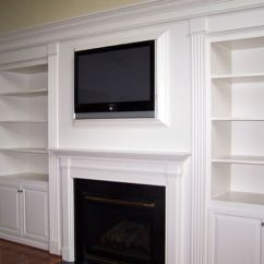 Living Room Wall Ideas With Tv Contemporary Furniture Sets Uk Custom Bookcases Around Fireplace - Bing Images | For The ...