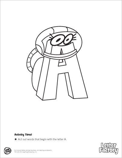LeapFrog Letter Factory Coloring Book- Let the Letter