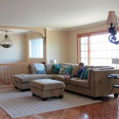Gray Couch Living Room Decor Seating Arrangements Raised Ranch Layout - On ...