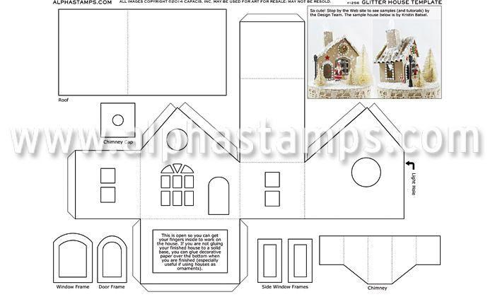 101 best ideas about Putz- Glitter House Templates on