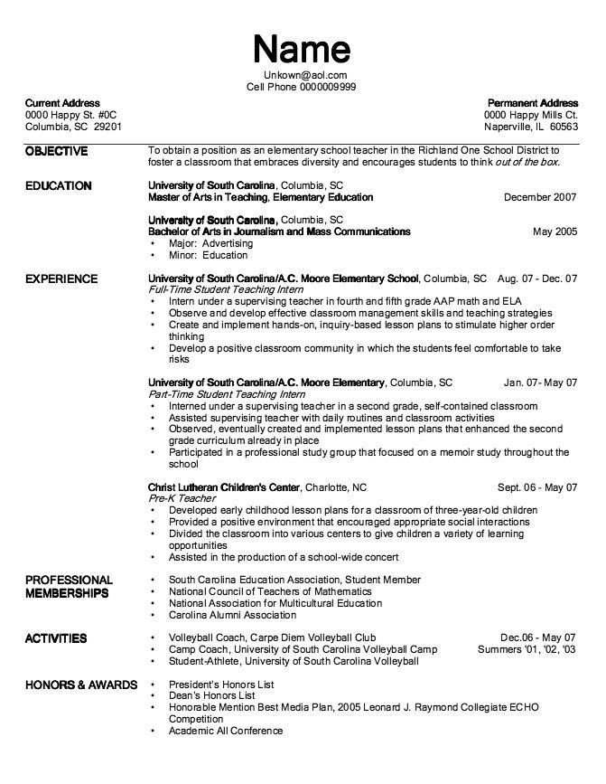 Example Of Pre K Teacher Resume Exampleresumecv