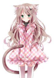 cute anime girl with cat ears