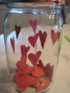 Paper Hearts And Mason Jar Valentines Day Table