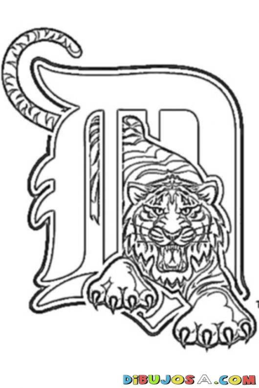 Detroit Tigers Logo Coloring Page Dibujos Para Pintar