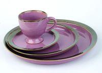 Purple Ceramic Dinnerware Set