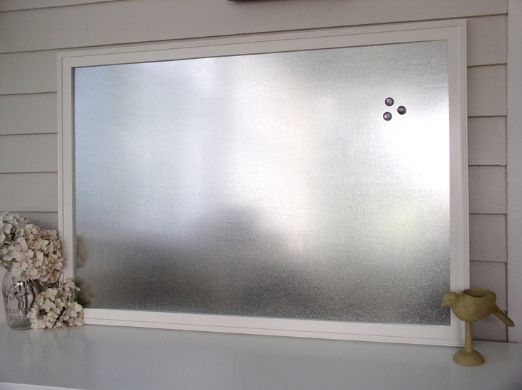 framed magnetic bulletin board  Interior Decorating  Pinterest  Industrial Metals and Home