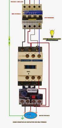 110v 220v Motor Wiring Diagram Esquemas El 233 Ctricos Como Conectar Un Contactor Trifasico