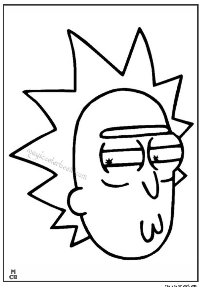 Pin by Magic Color Book on Rick and Morty Coloring pages