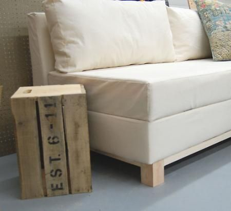 DIY Build Your Own Storage Sofa for under 200 make