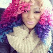blonde pink purple blue ombre rainbow