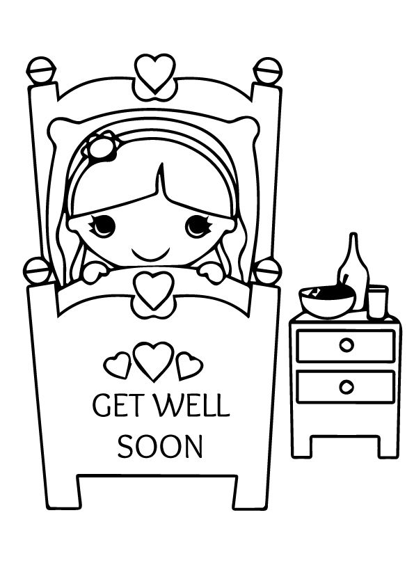 Get Well Soon Coloring Pages Animals. Get. Best Free
