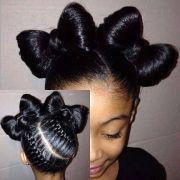 pin queen lil girls hair