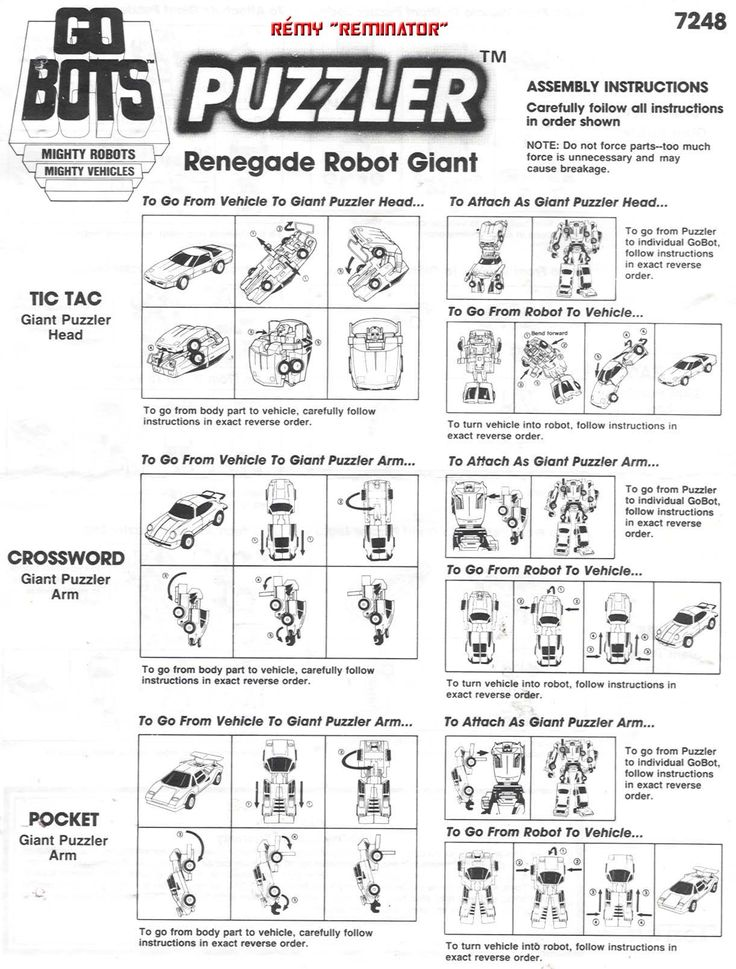 17 Best images about Toy Robot Instructions / Instuction