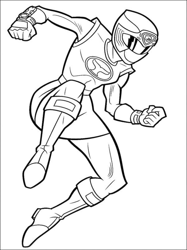Yellow Ninja Strom Ranger Coloring Pages Power Ranger