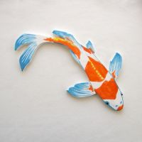 Koi Mosaic tile ceramic fish hand painted art Tiles ...