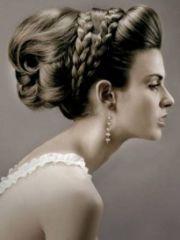 grecian hair- greek wedding