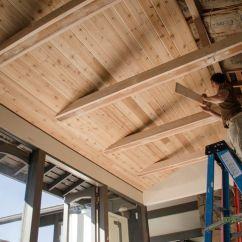 Floors For Kitchens Kitchen Remodel Calculator With The Tongue And Groove Cedar, Ceiling Really ...