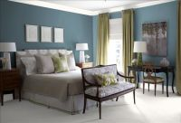 Blue dusk paint (Benjamin Moore) for the master bedroom ...
