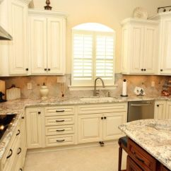 Colored Kitchen Sinks Booths For Sale Cream Cabinets With Bronze Hardware, Granite Stone ...
