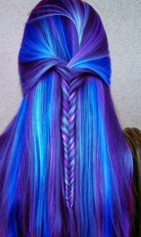 thats a pretty hair color! i want purple cool aid dyed ...