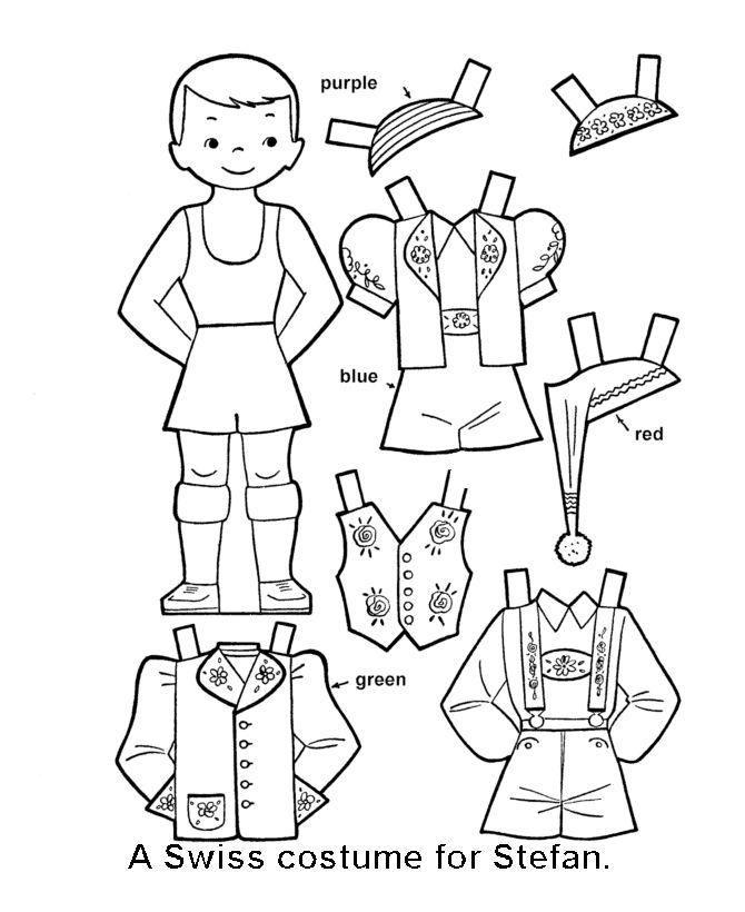 95 best images about Paper Dolls Coloring Art Print Pages