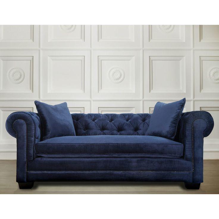 martha stewart saybridge sofa wooden frame manufacturers modern living room furniture luxury velvet blue ...