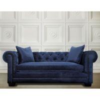 Modern Living Room Furniture Luxury Velvet Blue Sofa