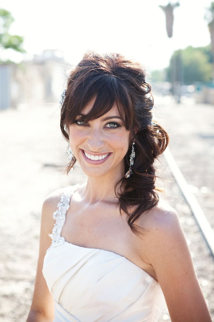 25 Best Ideas About Wedding Hair Bangs On Pinterest Bridal Hair