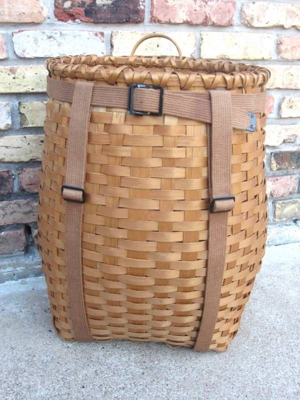 ice fishing chair kids wooden chairs vintage adirondack backpack trapping camping basket pack great condition   stuff to buy ...