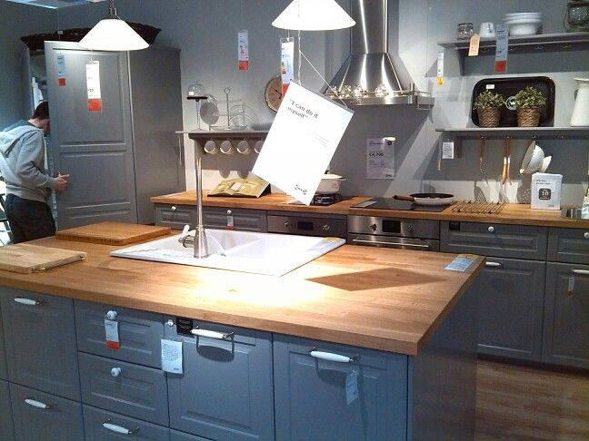 Ikea Grey Kitchen Cuisine Bodyn Pinterest Grey My