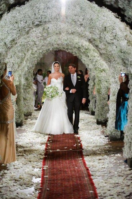 floral arches wedding decor  Babys Breath Wedding  Pinterest  Angeles Wedding and Rose petals