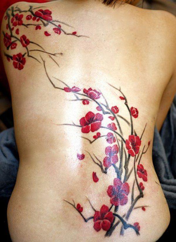 tatouages301 tatouage cerisier japonais. Black Bedroom Furniture Sets. Home Design Ideas