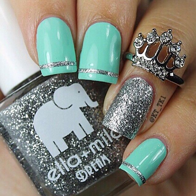 25+ best ideas about Tiffany Blue Nails on Pinterest