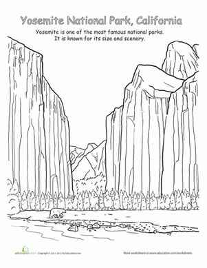 Worksheets, Yosemite national park and Geography on Pinterest